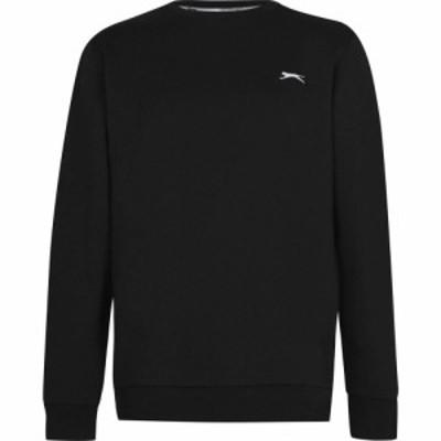 スラセンジャー Slazenger メンズ スウェット・トレーナー トップス Sweater Black