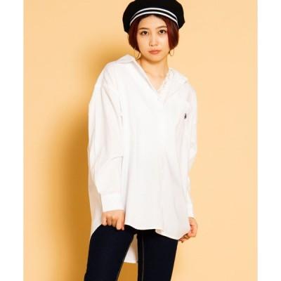 【ウィゴー】∴WEGO/U.S. POLO ASSN.別注ビッグシルエットシャツ