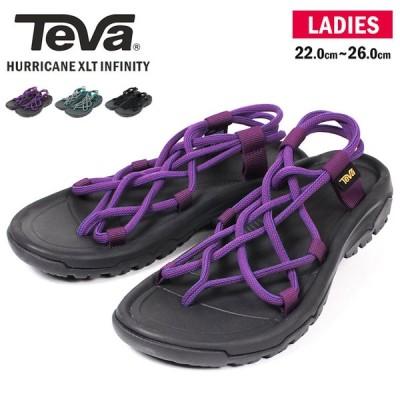 テバ サンダル ハリケーン インフィニティ レディース おしゃれ 軽量 スポーツサンダル 履きやすい 歩きやすい 抗菌 ストラップ ブラック 黒 1091112