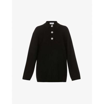 ガニー GANNI レディース ニット・セーター トップス Oversized cashmere jumper BLACK