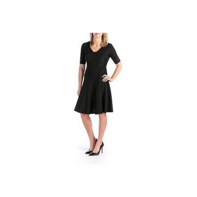 ドレス 女性  アンクライン Anne Klein 2156 レディース Textuレッド Elbow スリーブs Wear to Work ドレス