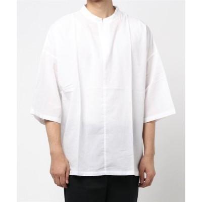 シャツ ブラウス キーネックシャツプルオーバー【韓国ストリートファッション】