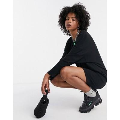 ノイズィーメイ Noisy May レディース ワンピース ワンピース・ドレス knitted dress in black ブラック