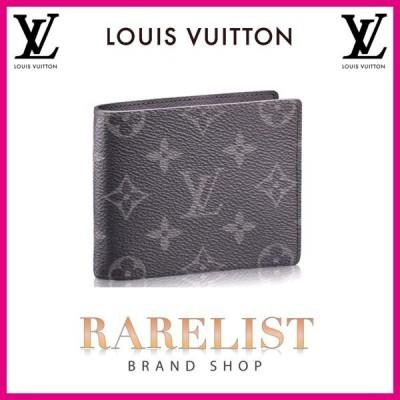 ルイヴィトン LOUIS VUITTON 財布 小財布 2つ折り 二つ折り 新作 モノグラムエクリプス ブラック グレー パンス エクリプス レザー LV ロゴ