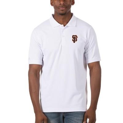 """メンズ ポロシャツ """"San Francisco Giants"""" Antigua Legacy Pique Polo - White"""