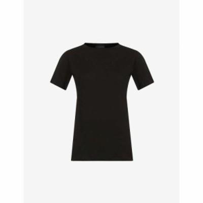 ワードローブ ニューヨーク WARDROBE.NYC レディース Tシャツ トップス Relaxed-fit cotton-jersey T-shirt BLACK