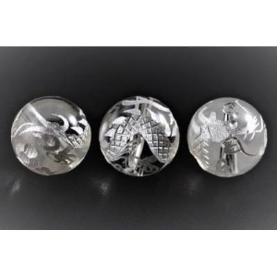 水晶 10mm (白彫り) 白龍 (五爪龍) 【彫刻 一粒売りビーズ】 天然石 パワーストーン