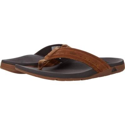 リーフ Reef メンズ ビーチサンダル シューズ・靴 Leather Ortho-Spring Brown