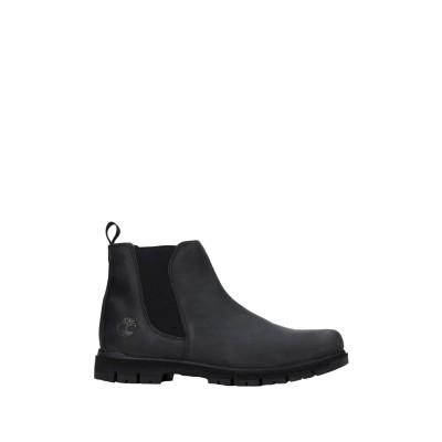 ティンバーランド TIMBERLAND ショートブーツ ブラック 7.5 革 / 紡績繊維 ショートブーツ