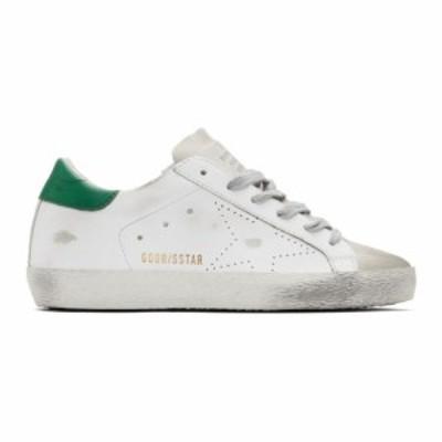 ゴールデン グース Golden Goose レディース スニーカー シューズ・靴 White & Green Superstar Sneakers Green