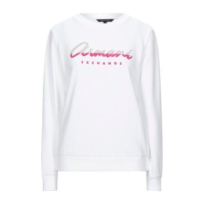 ARMANI EXCHANGE スウェットシャツ ホワイト XS コットン 60% / ポリエステル 40% / ポリウレタン スウェットシャツ