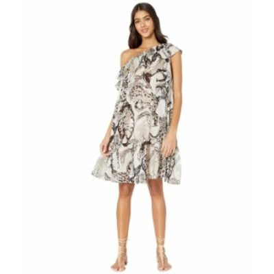 ステラマッカートニー レディース ワンピース トップス Horse Print One Shoulder Dress Natural/Grey