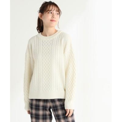 Honeys / ケーブル編プルオーバー WOMEN トップス > ニット/セーター