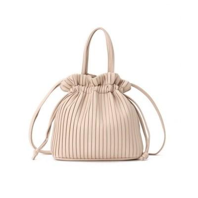 SHOO・LA・RUE/シューラルー 2WAYプリ-ツ巾着バッグ ピンク(072) 00