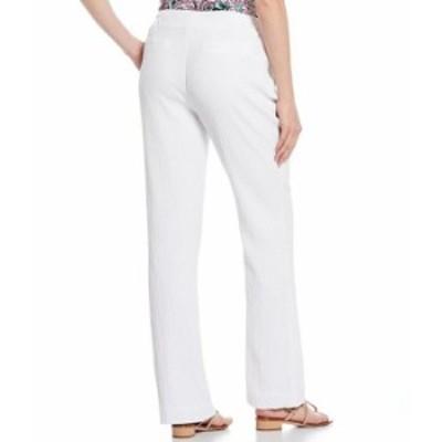 カルバンクライン レディース カジュアルパンツ ボトムス Crinkle Gauze Wide-Leg Full Length Drawstring Pants White