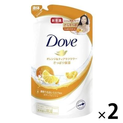 ダヴ(Dove) ボディウォッシュ(ボディソープ) オレンジ&ティアラフラワー 詰め替え 360g 2個