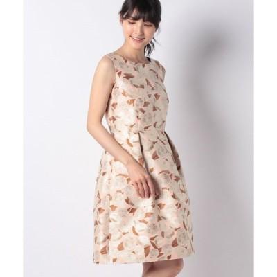 【ミス ジェイ】レモンジャカード ノースリーブドレス
