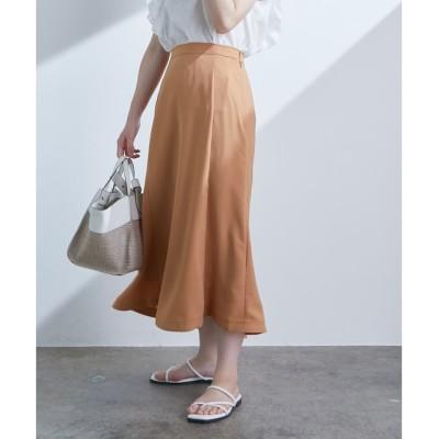 【ビス/ViS】 セミフレアミモレ丈スカート