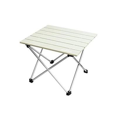 DABADA(ダバダ) アルミテーブル アウトドアテーブル キャンプテーブル レジャー 折りたたみ (アイボリー)