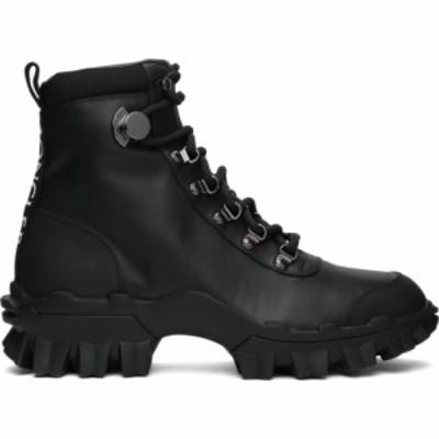 モンクレール Moncler レディース ブーツ シューズ・靴 Black Leather Helis Boots Black