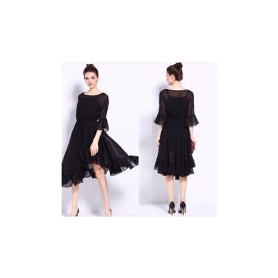 パーティードレス ひざ丈 スカート フレア かわいい レディース ワンピース 結婚式 二次会 お呼ばれドレス kh-0222
