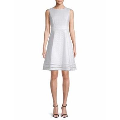 カルバンクライン レディース ワンピース Eyelet Lace Cotton Dress