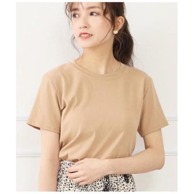 (CHILLE/チル)シンプルタイトTシャツ/レディース ベージュ