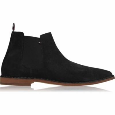 トミー ヒルフィガー Tommy Hilfiger メンズ ブーツ シューズ・靴 TH Suede Chelsea Sn04 Black