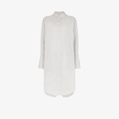 リーマシューズ Lee Mathews レディース ワンピース シャツワンピース ワンピース・ドレス cotton shirt dress grey