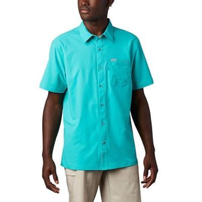 (取寄)コロンビア メンズ スラック タイド キャンプ シャツ Columbia Men's Slack Tide Camp Shirt Bright Aqua 送料無料