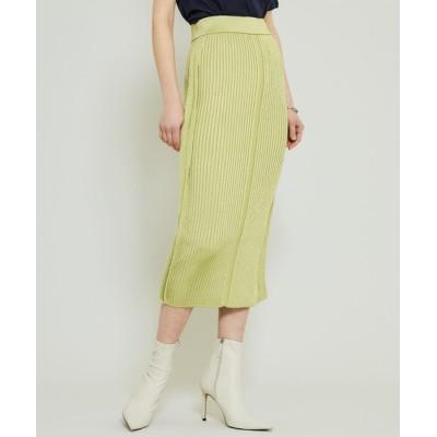 スカート 【TAN(タン)】ニットスカート/グロッシースカート