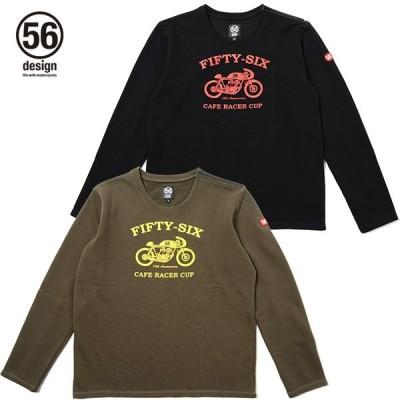 ポイント2倍(56デザイン/56design) 56DESIGN CAFE RACER CUP CREW NECK スウェット ロング Tシャツ(P.U)