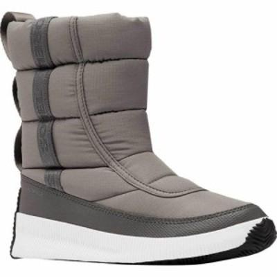 ソレル Sorel レディース ブーツ シューズ・靴 Out N About Puffy Mid Calf Winter Boot Quarry Waterproof Nylon/PU