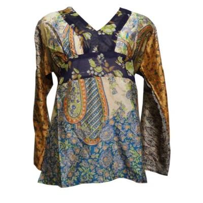 ブラウス アジアン衣料 ネパール・シルクブラウス16 クリックポスト選択 送料200円