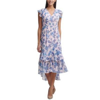 トミー ヒルフィガー レディース ワンピース トップス Petite Garden Chiffon Midi Dress Bal Pnk Ml