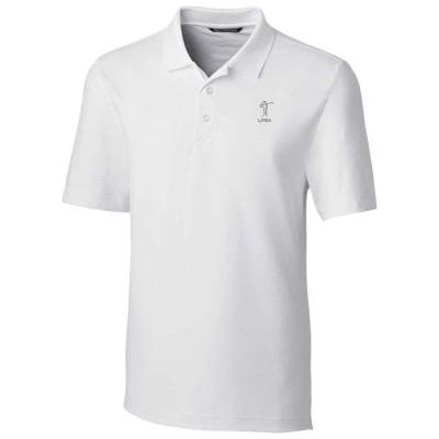 メンズ ポロシャツ LPGA Cutter & Buck Forge DryTec Polo - White