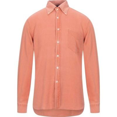 FLY 3 メンズ シャツ トップス solid color shirt Orange