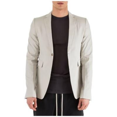 コート メンズ ジャケット リックオウエンス RICK OWENS MEN'S JACKET BLAZER NEW GREY BF2