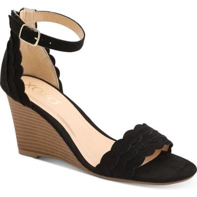 キスキス XOXO レディース サンダル・ミュール ウェッジソール シューズ・靴 Magenta Wedge Sandals Black