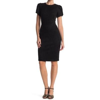カルバンクライン レディース ワンピース トップス Tulip Sleeve Sheath Dress BLACK