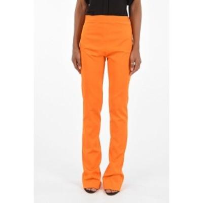 VERSACE/ヴェルサーチ Orange レディース Mid-rise waist bootcut pants dk