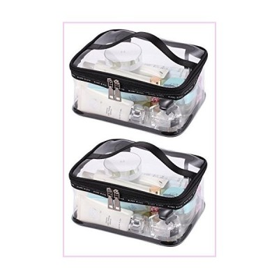 LOUISE MAELYS Portable Clear Makeup Bag Zipper Waterproof Transparent Travel Storage Pouch Cosmetic Toiletry Bag With Handle■並行輸入品■