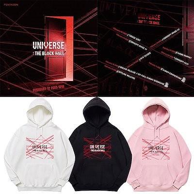 大人気!PENTAGONアルバム UNIVERSE THE BLACK HALL フードスウェット 韓国ファッション 男女兼用 トップス 応援服 厚手(裹起毛)パーカー 応援 アウター