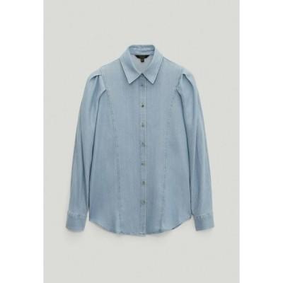 マッシモ ドゥッティ シャツ レディース トップス Button-down blouse - light blue