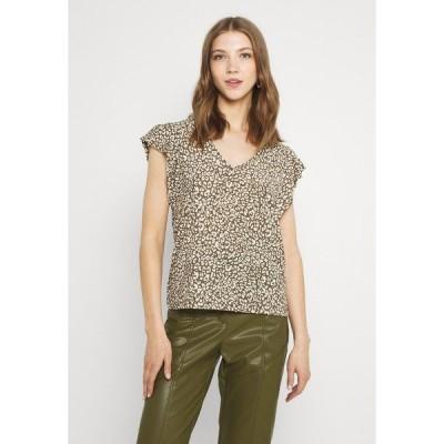 ジェイディーワイ Tシャツ レディース トップス JDYGITTE SVANS V NECK - Print T-shirt - black/kalamata