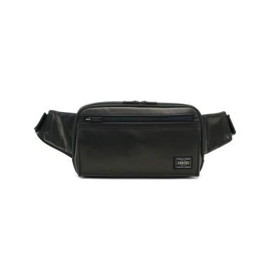 【ギャレリア】 吉田カバン ポーター ウエストバッグ PORTER ボディバッグ  AMAZE アメイズ WAIST BAG日本製 022-03796 ユニセックス ブラック F GALLERIA