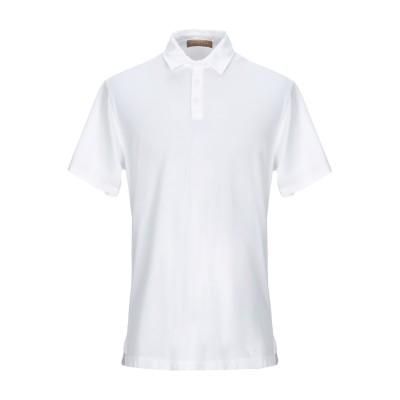 ダニエル フィエゾーリ DANIELE FIESOLI ポロシャツ ホワイト M コットン 100% ポロシャツ