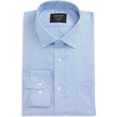 ノードストローム NORDSTROM メンズ シャツ トップス Trim Fit Non-Iron Dress Shirt Blue Azurite