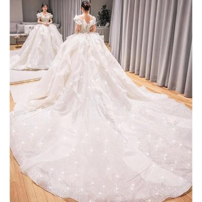 ウエディングドレス 安い 花嫁 ドレス 二次会 プリンセス 結婚式 披露宴 ブライダル ロングドレス エンパイア wedding dress 大きいサイズ 2020 新品