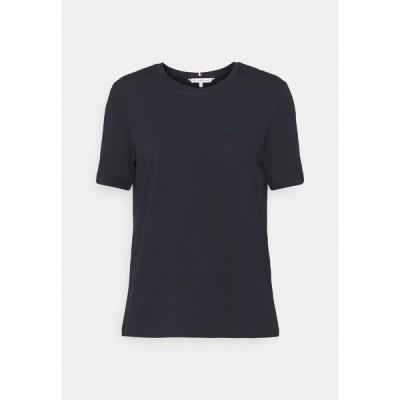 トミー ヒルフィガー Tシャツ レディース トップス REGULAR TEE - Print T-shirt - desert sky
